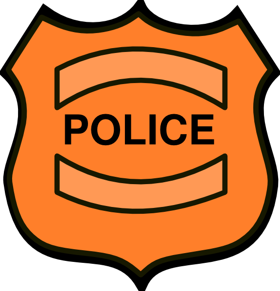 Logo clipart police badge Image com vector as: this