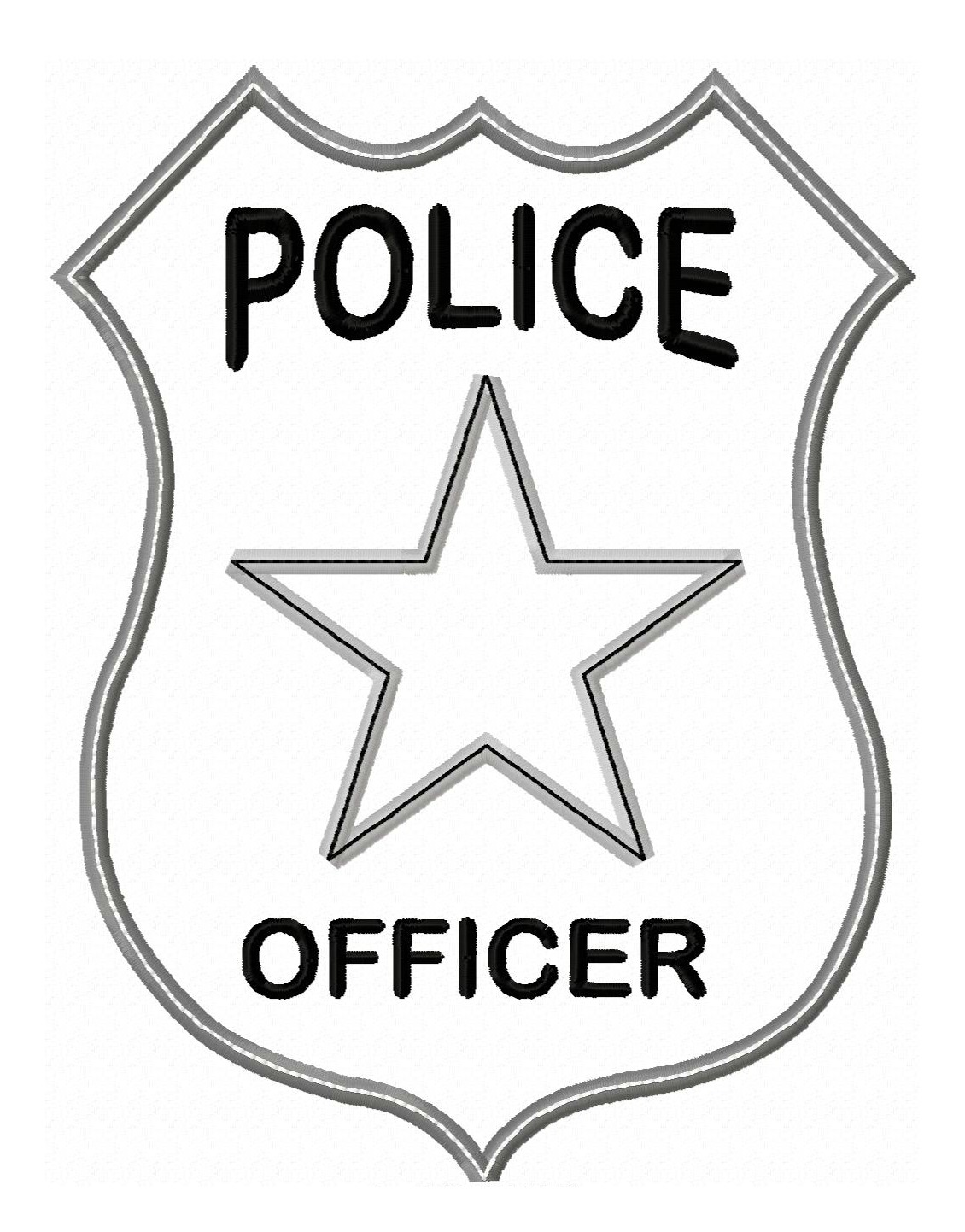 Logo clipart police badge Colouring  Pages Badge Badge