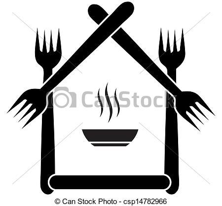 Logo clipart restaurant Logo cafe restaurant Vector csp14782966