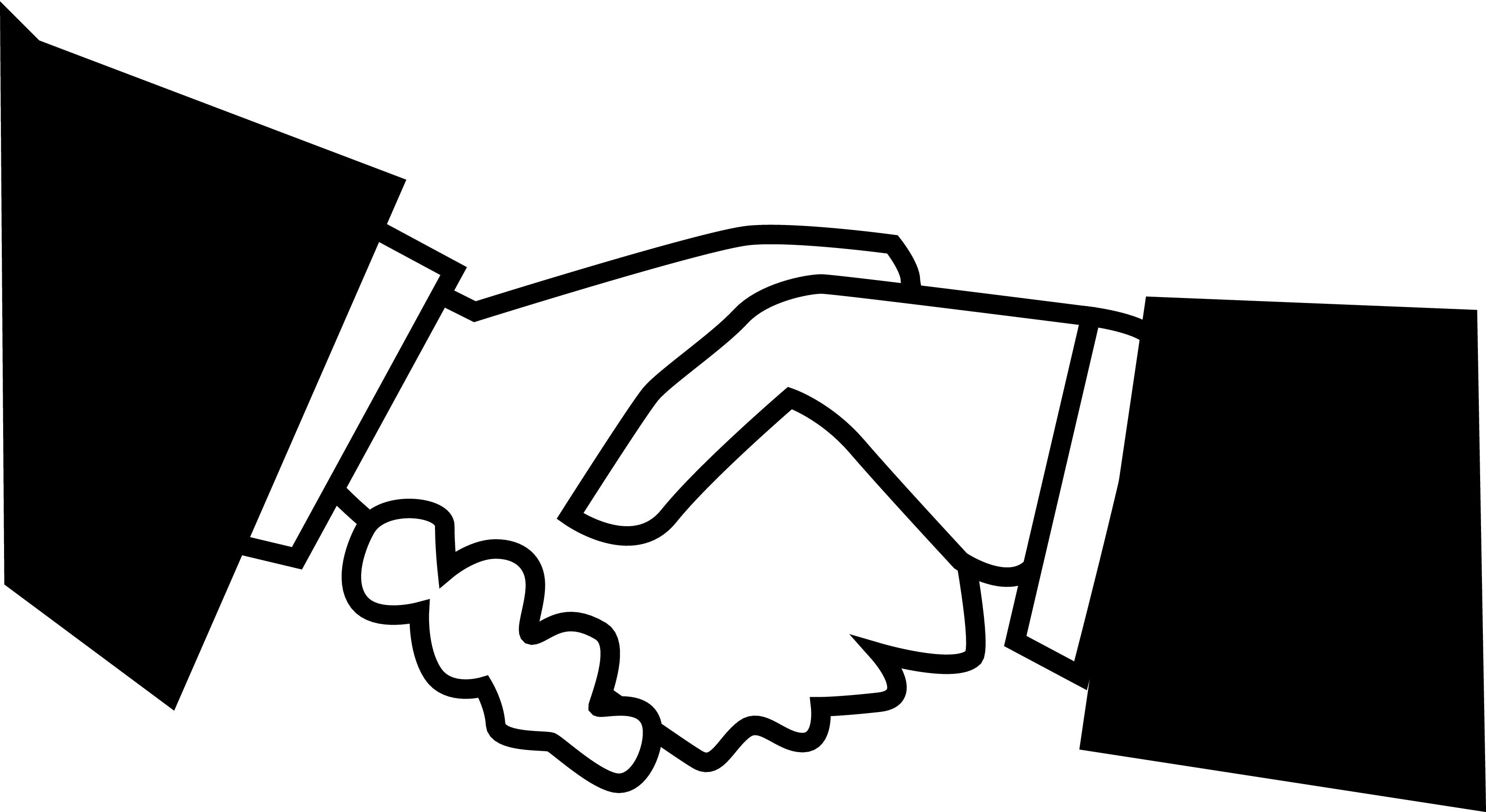 Logo clipart shake hand Black hand clipart Shaking hands
