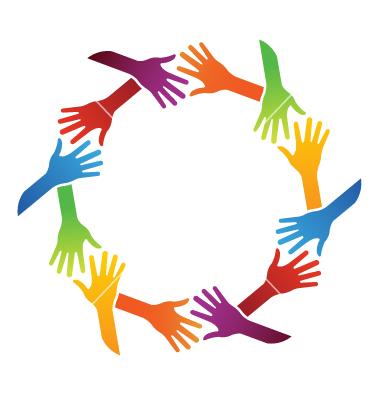 Logo clipart shake hand Vector Team hand vector shake