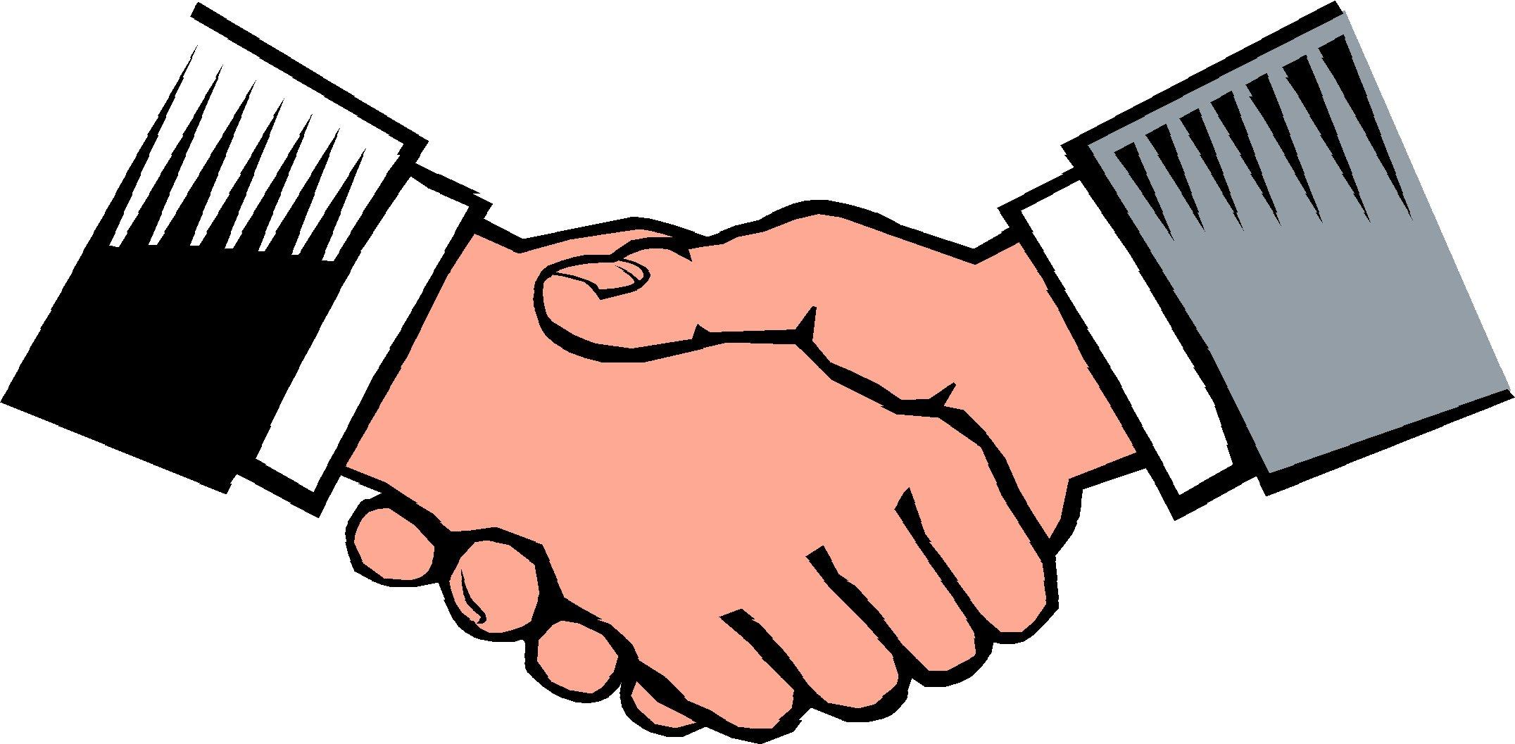Logo clipart shake hand Free Download Free Hands Art