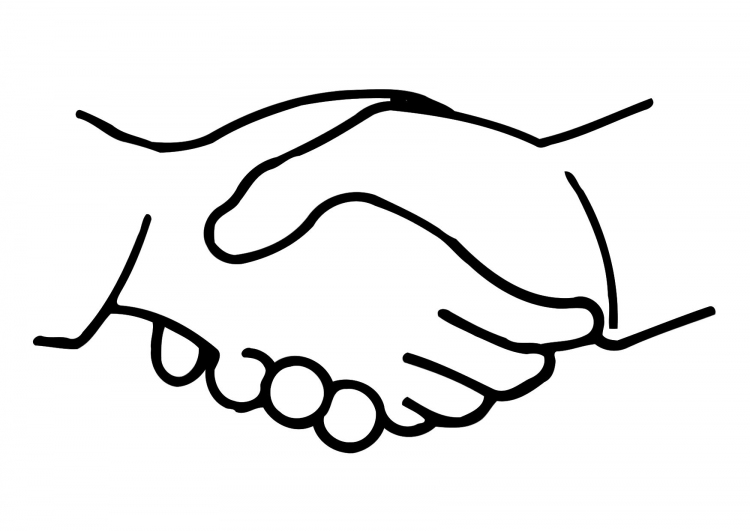 Logo clipart shake hand Clip Clipart library Free Logo