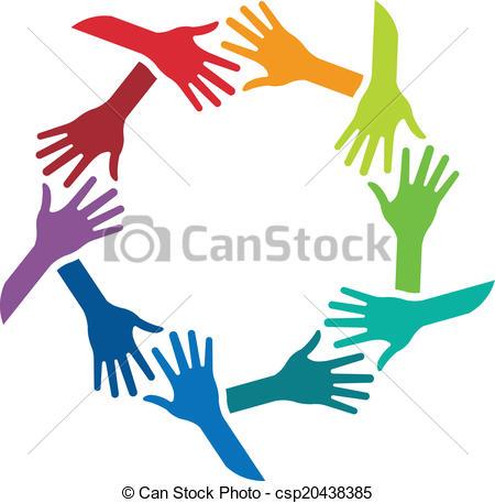 Logo clipart shake hand Shaking logo csp20438385 Circle shaking