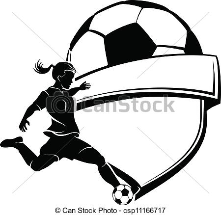 Football clipart shield Clip black Art of Girl
