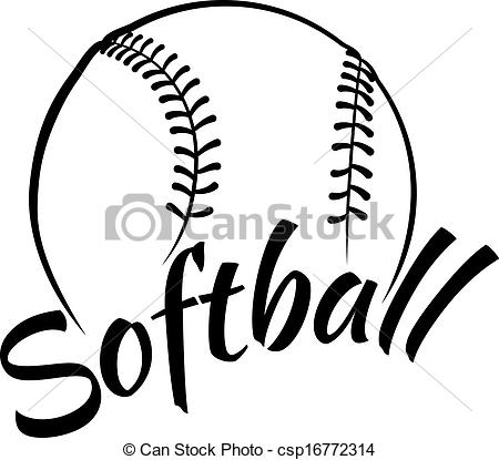 Black clipart softball Clipart Fastpitch Collection softball