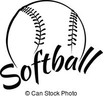 Black clipart softball And Fun Clipart royalty Illustrations