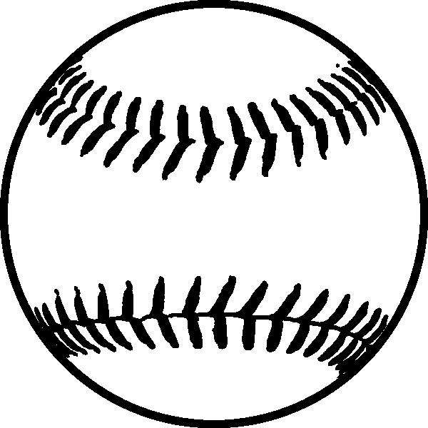 Black clipart softball Softball logo  of Clipart