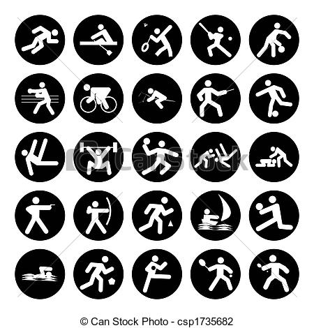 Logo clipart sport Buttons on sports white of
