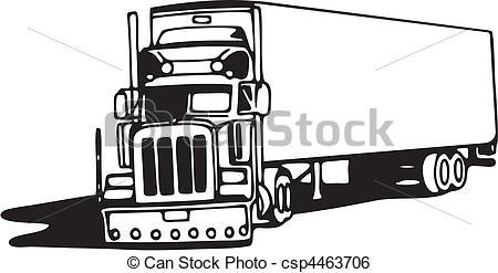 Drawn truck 18 wheeler Illustration of Truck csp4463706 csp4463706