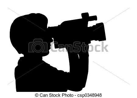 Logo clipart video camera With silhouette videocamera with man