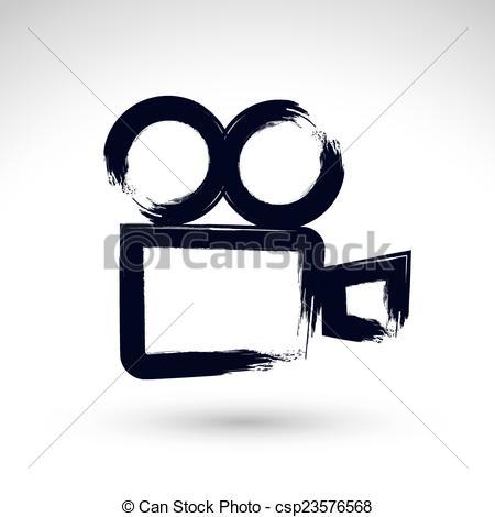 Logo clipart video camera Ink video csp23576568 hand Clip