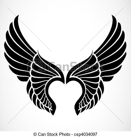 Logo clipart wing Illustrations 174 71 Wings EPS