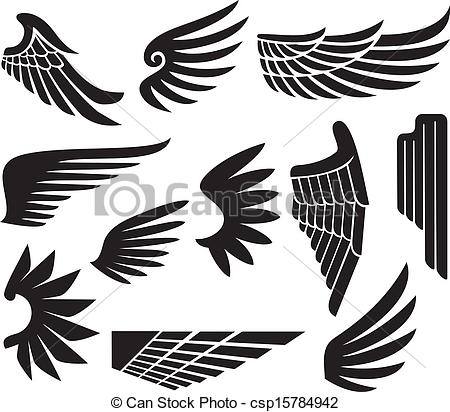 Logo clipart wing Csp15784942  Search Vector of