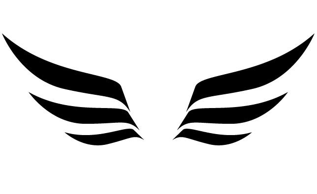 Logo clipart wing Tshirts Panda Wings Panda Images