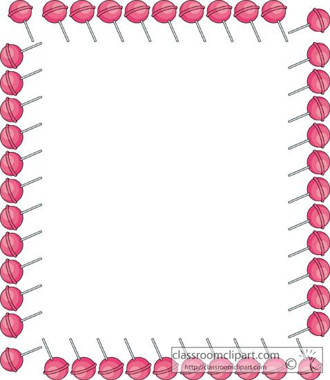 Lollipop clipart border Lollipop Clipart 88 Round Art