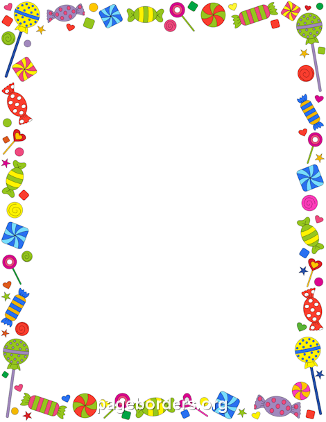 Lollipop clipart border Candy and Clip Border Graphics