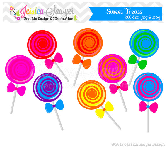 Lollipop clipart circle Art by clip JessicaSawyerDesign by