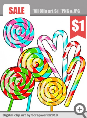 Lollipop clipart circle May candy party create