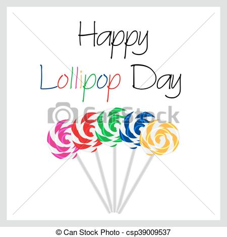 Lollipop clipart five Sweet Day with lollipops Happy