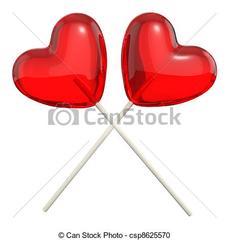 Lollipop clipart heart shaped Crossed Two Two Illustration heart