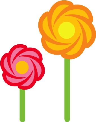 Orange Flower clipart orange things Flower pdclipart Flower com art
