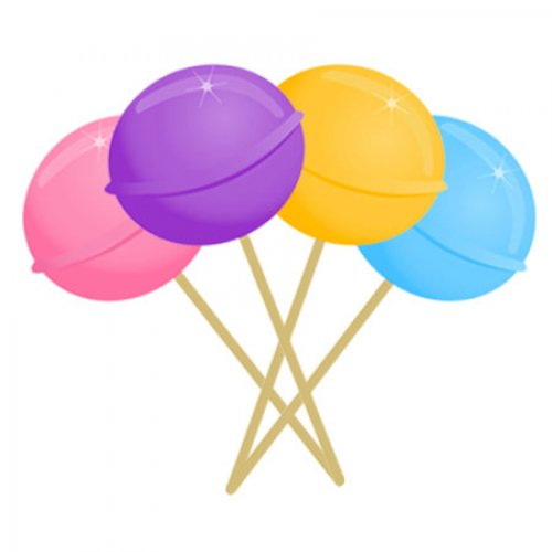 Lollipop clipart seven Personalized Lollipop 30 Address Labels