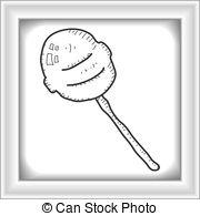 Lollipop clipart simple Doodle hand of lollipop a