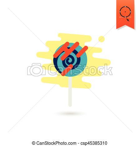 Lollipop clipart simple Design Colorful Lollipop Style