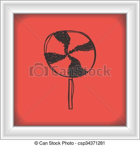 Lollipop clipart simple Of drawn a Simple lollipop