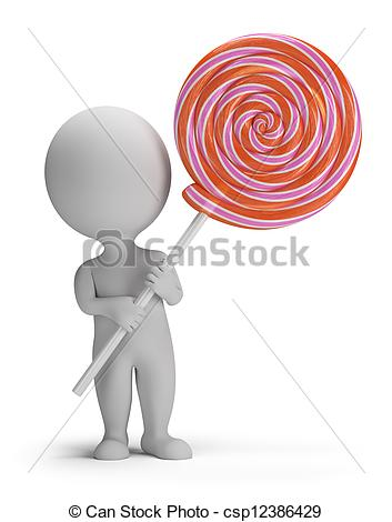 Lollipop clipart small 3d 3d small Free Stock