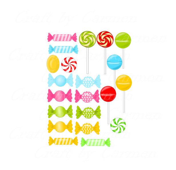 Lollipop clipart small Digital Candy clipart digital art