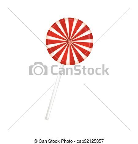 Lollipop clipart striped Red  stripes Vector Lollipop