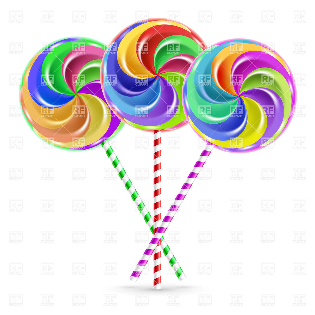 Lollipop clipart striped Art – office striped Clipart