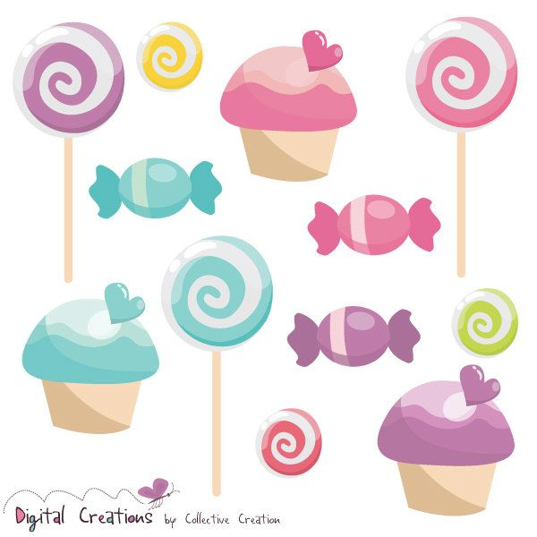 Vanilla Cupcake clipart sweet treat Images Lollypop Sweets on 80
