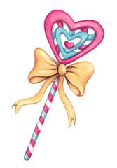 Lollipop clipart ten Shaped Nopi Day art Watercolor