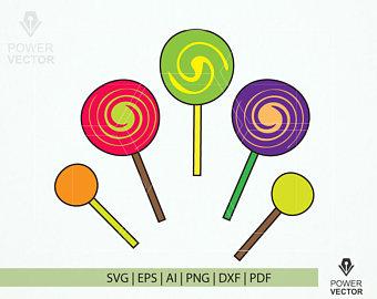 Lollipop clipart ten Svg Cut Print Lollipop Lollipop