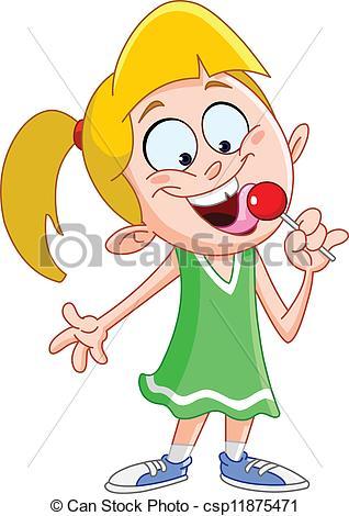 Lollipop clipart woman Free Lollipop licking a red