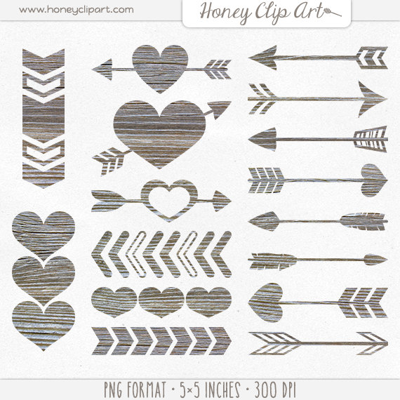 Arrow clipart shabby chic Art Shabby Wooden Weathered Wood