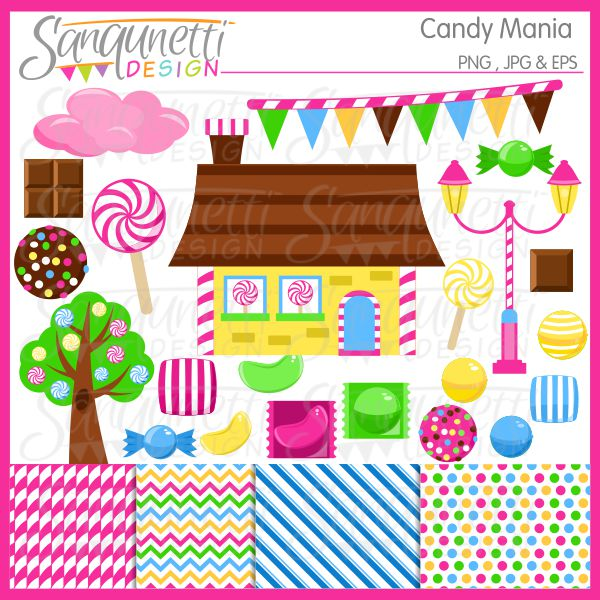 Lollipop clipart wrapped candy Clipart bold includes bright wrapped