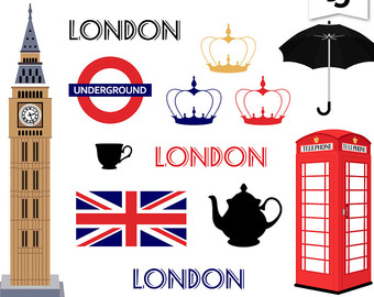 London clipart Jack London Digital clip Vacation