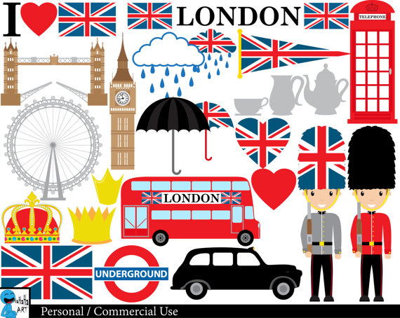 London clipart Digital Graphics Clip Personal Art