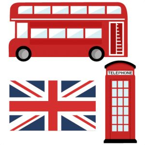 Telephone Booth clipart london double decker bus File files Pinterest scrapbook cute