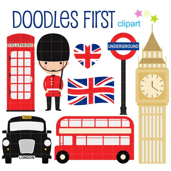 Telephone Booth clipart british guard Clipart London Crafts London Scrapbooking
