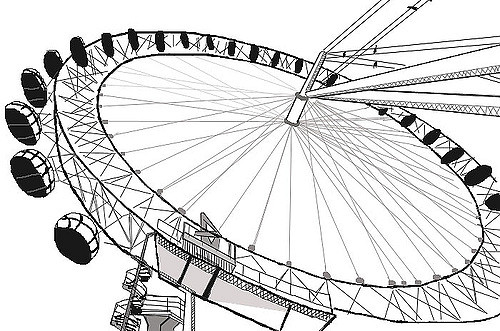 London Eye clipart London Eye Drawing #13