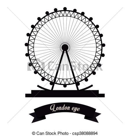 London Eye clipart London Eye Drawing #14