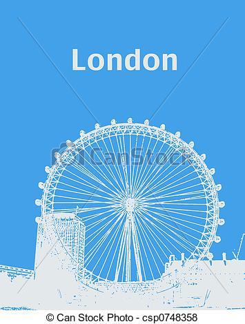 London Eye clipart London Eye Drawing #11