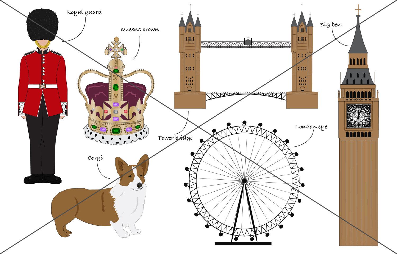 Royal Guards clipart english crown This  British set digital