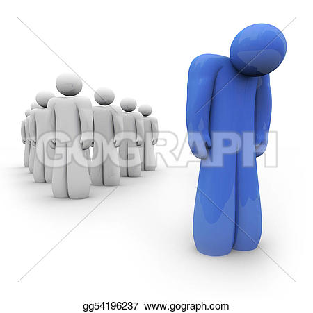 Lonely clipart Blue Illustration gg54196237 apart lonely