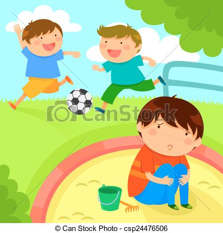 Lonely clipart Kids boy lonely boy Clipart